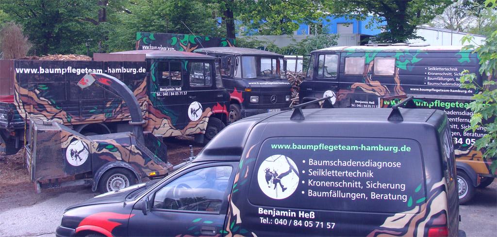 Baumpflegeteam-Hamburg Team-Fahrzeuge